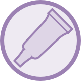 Ointment tube icon.